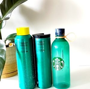 Starbucks Holiday Green Hot/Cold Tumbler Set